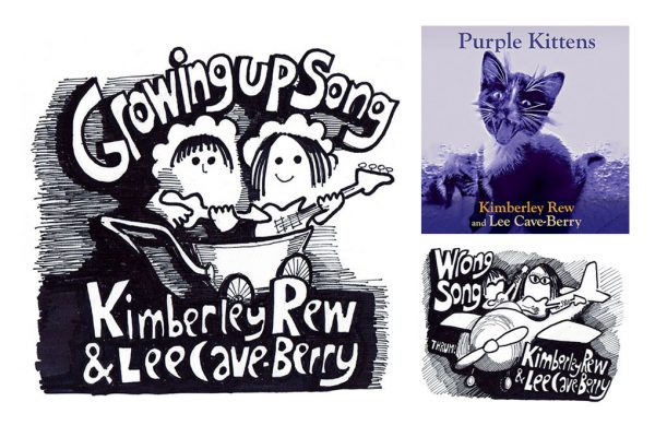 Growing Up Song, Wrong Song singles and Purple Kittens album pack shots