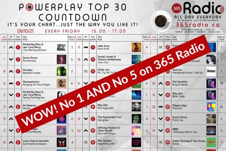 Number One AND Number Five on the Radio 365 chart