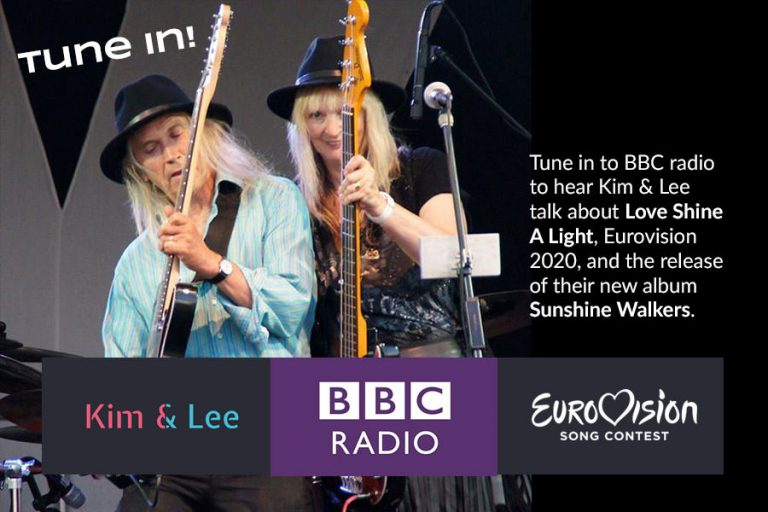 Kimberley Rew and Lee Cave-Berry Eurovision 2020 love shine a light radio interviews