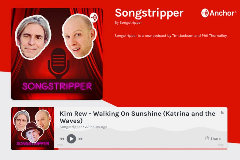 Walking on sunshine Songstripper podcast with Kimberley Rew
