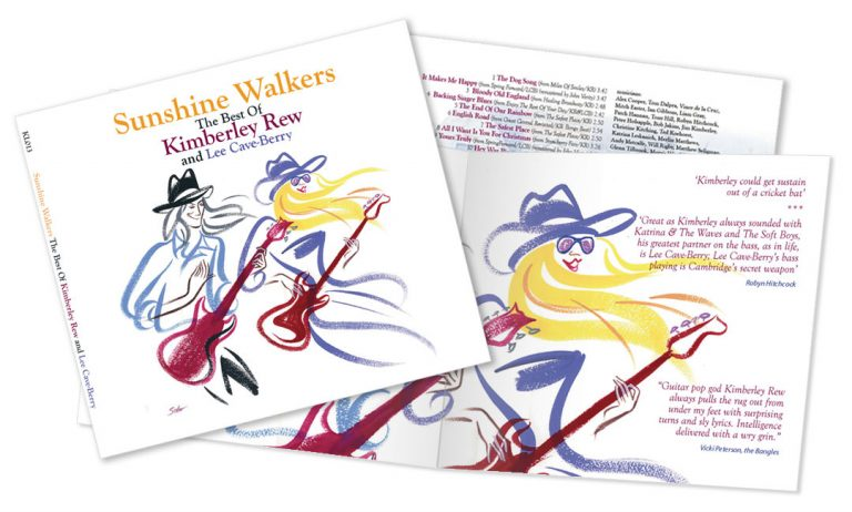 Kimberley Rew and Lee Cave-Berry Sunshine Walkers album artwork